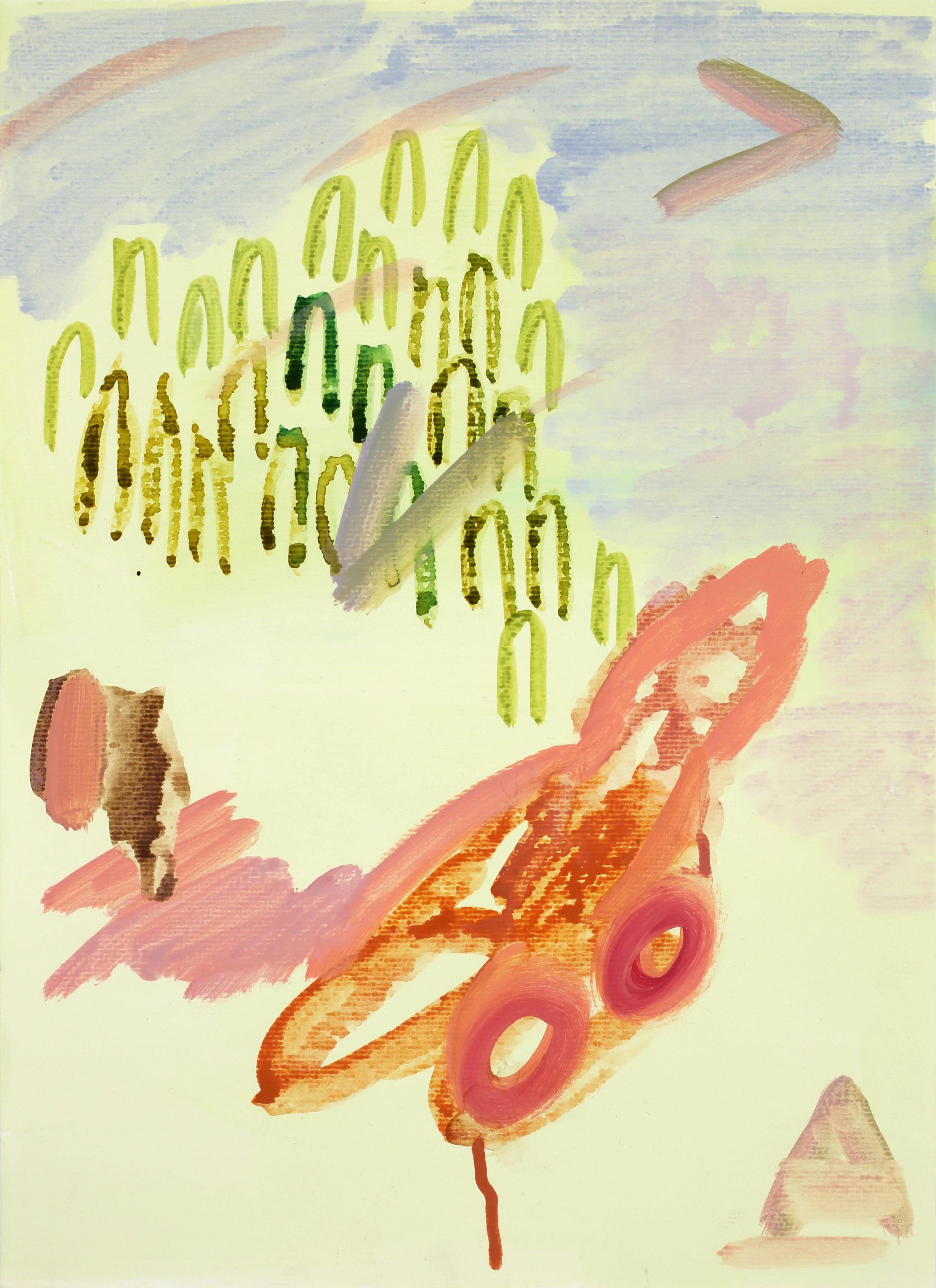 Haedam River (V/P #125)    2019, Watercolour on paper, 40.7x29.7cm