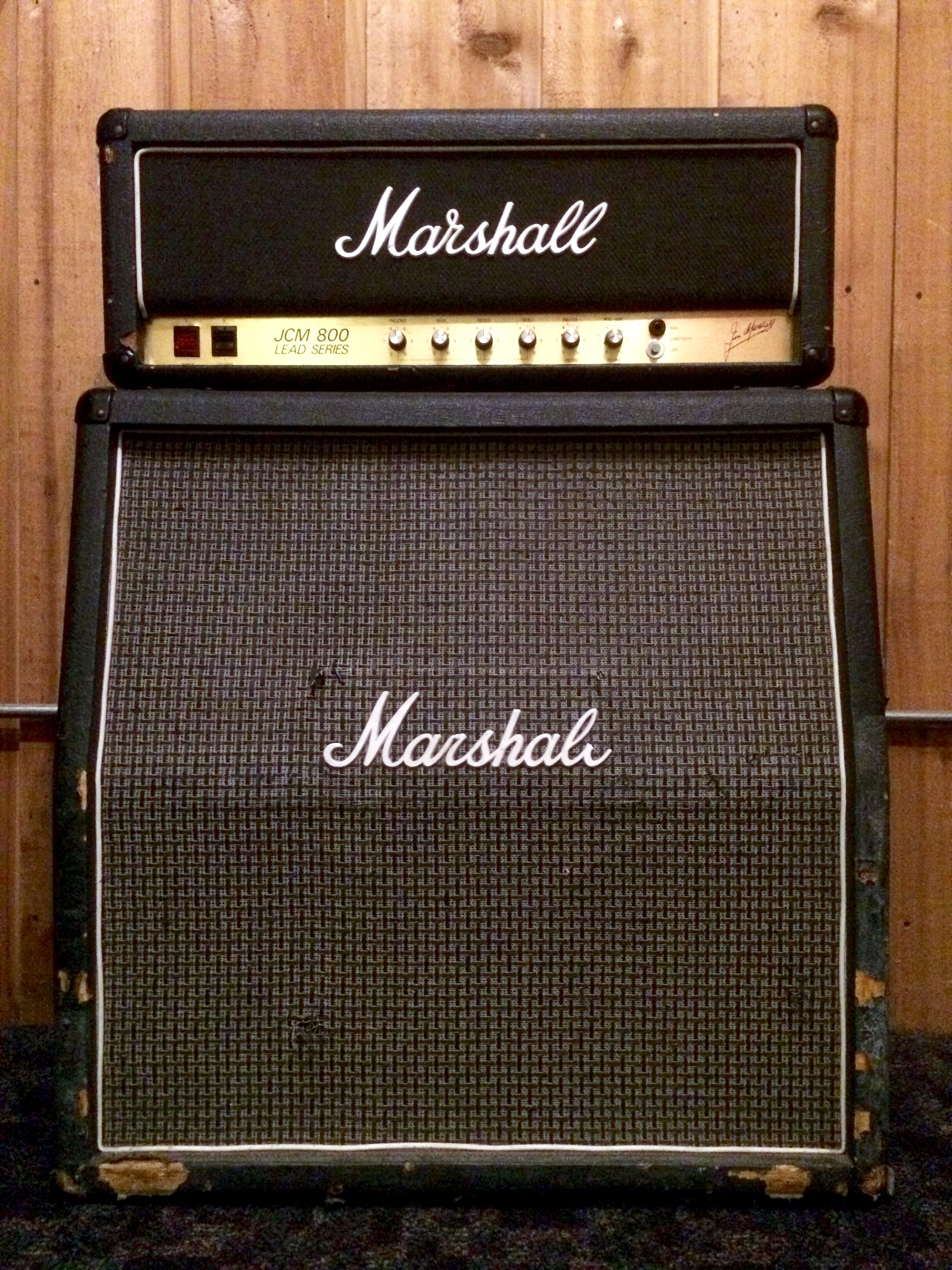 Marshall JCM-800 with 1960a 4x12 Cab