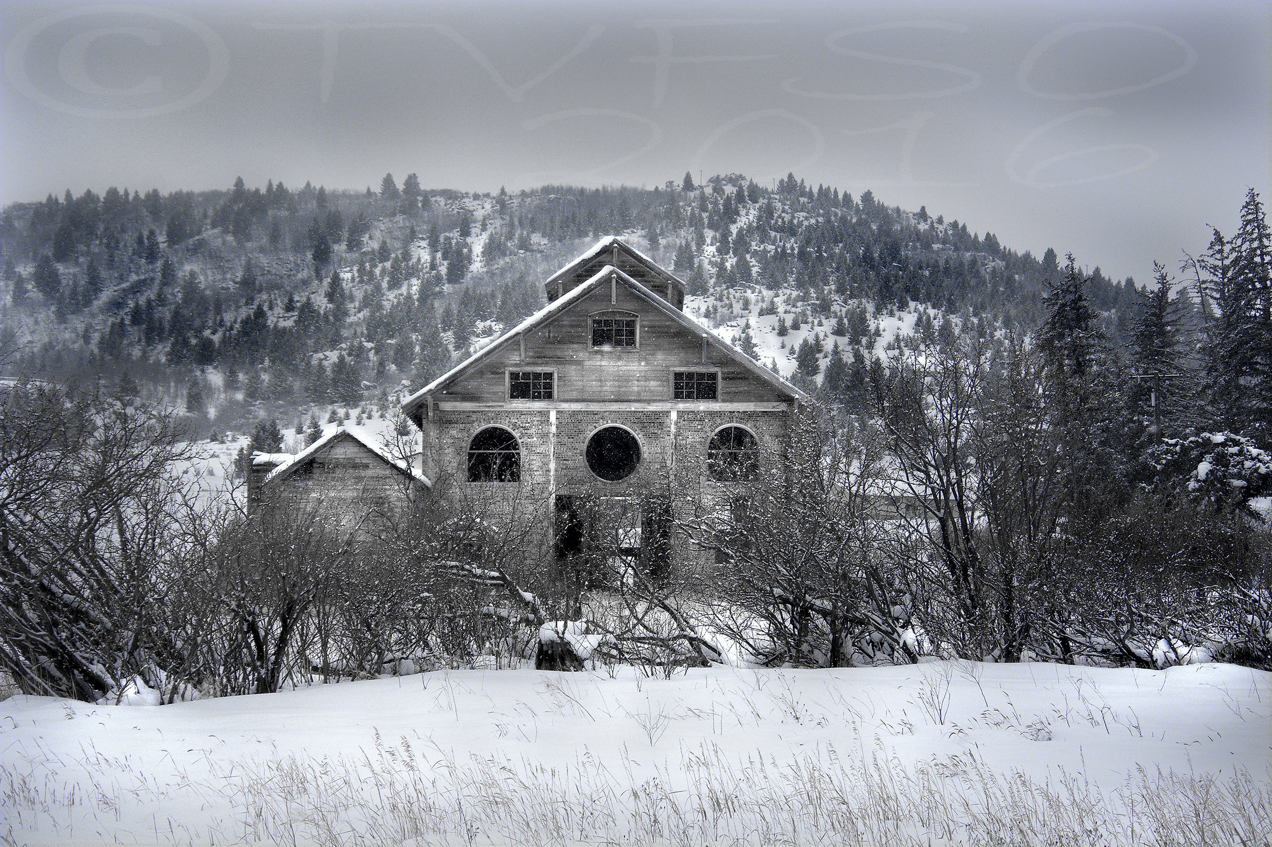 Old Slaughter House In Winter