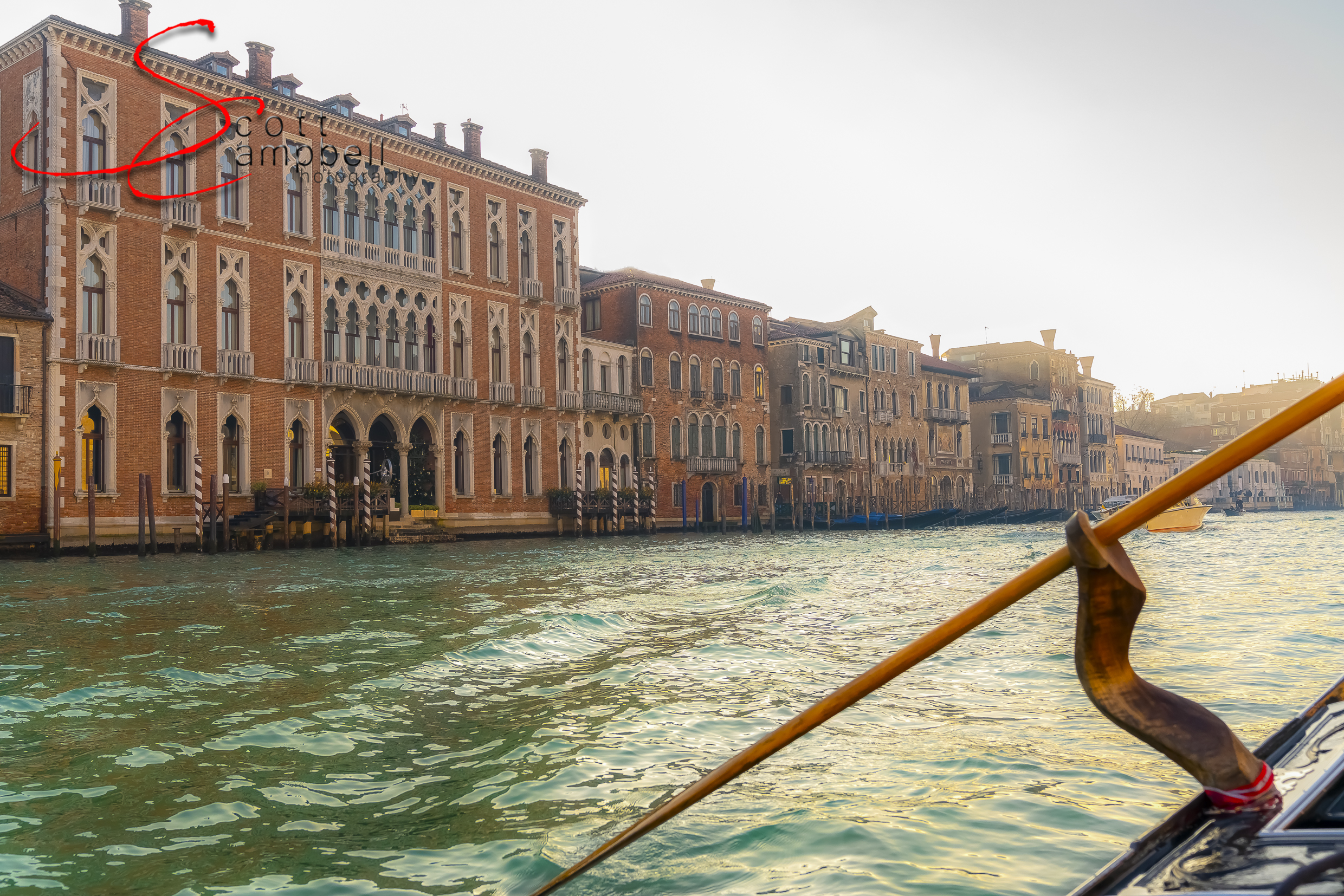 Amazing view down the Grand Canal.