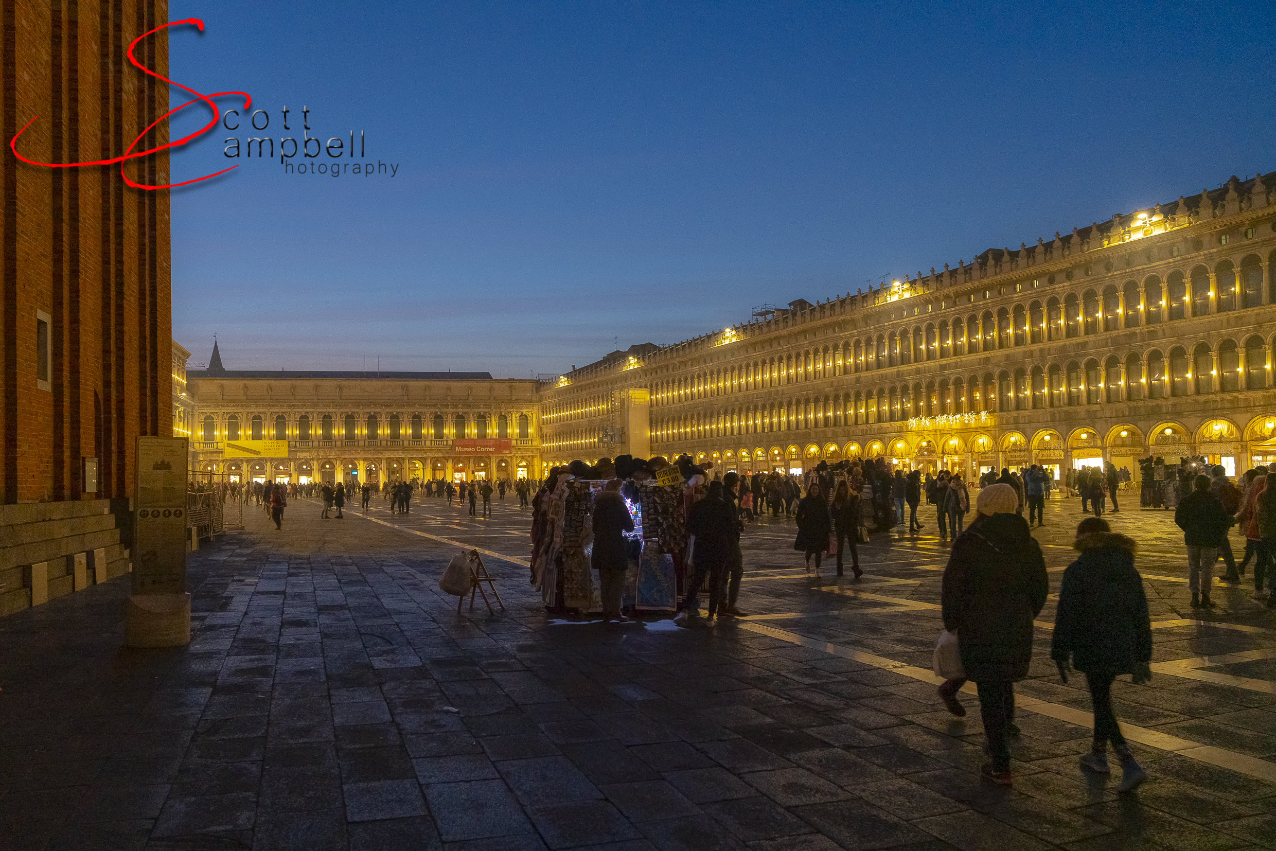 Night time in San Marco Square