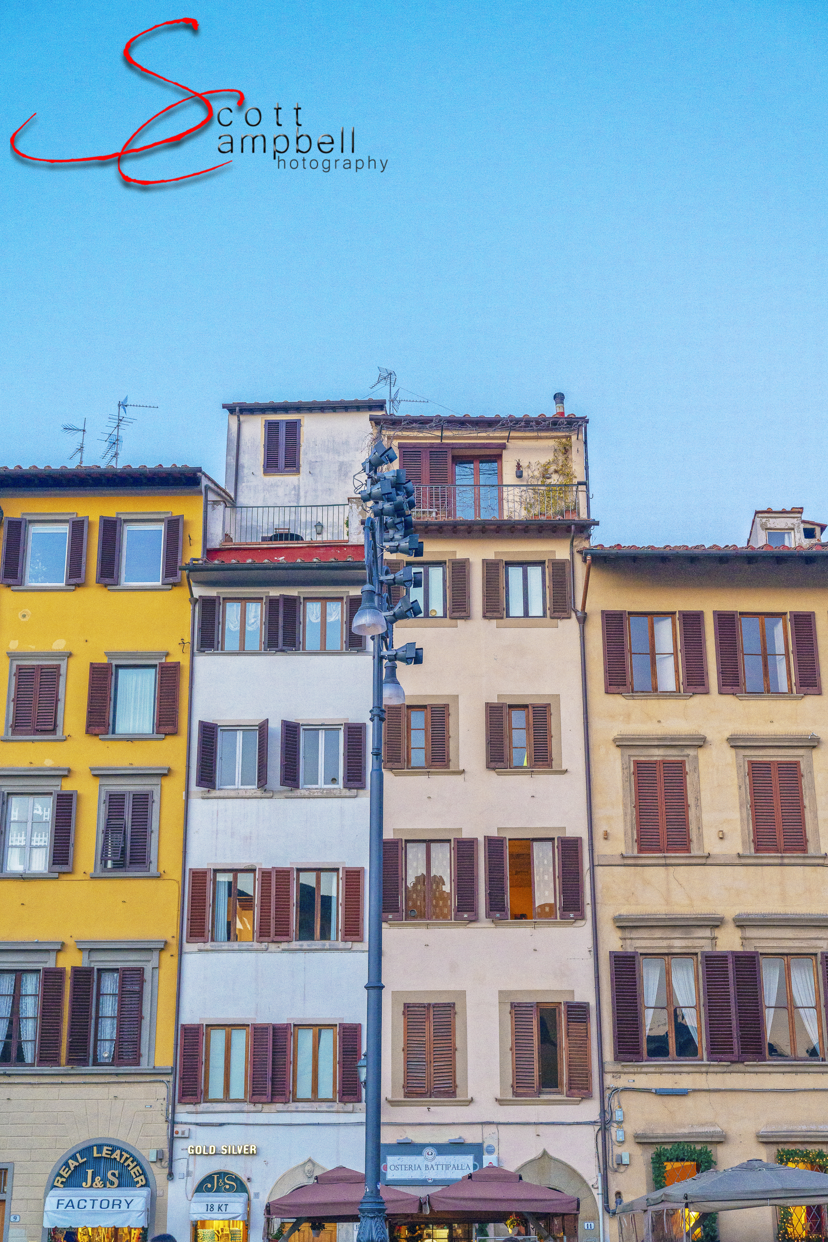 Colorful buildings of Florence