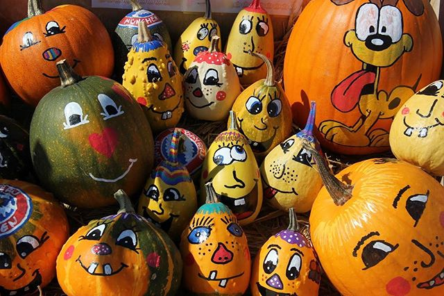 We have pumpkin decorating stations at both of our locations! Come visit us on Saturday and create your own masterpiece!