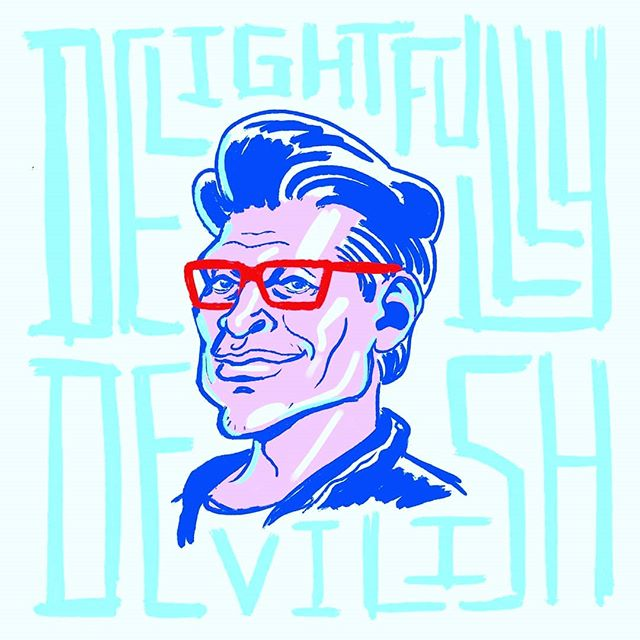 Staying offroad, trying more photoshop inking!  Inspired by @danxdraws though I might need to work more on my portraits when they're this cartoony!  I wonder if @jeffgoldblum thinks it's a good likeness... . Also if you haven't seen Jeff Goldblum's Steamed Hams video please watch it.  My current favourite meme 🍔 . . . #itsnicethat #jeffgoldblum #portrait #illustration #steamedhams #memes #meme #designsnack #tdkpeepshow #illustree #drawing #draw #design #designer #type #typography #arte #art