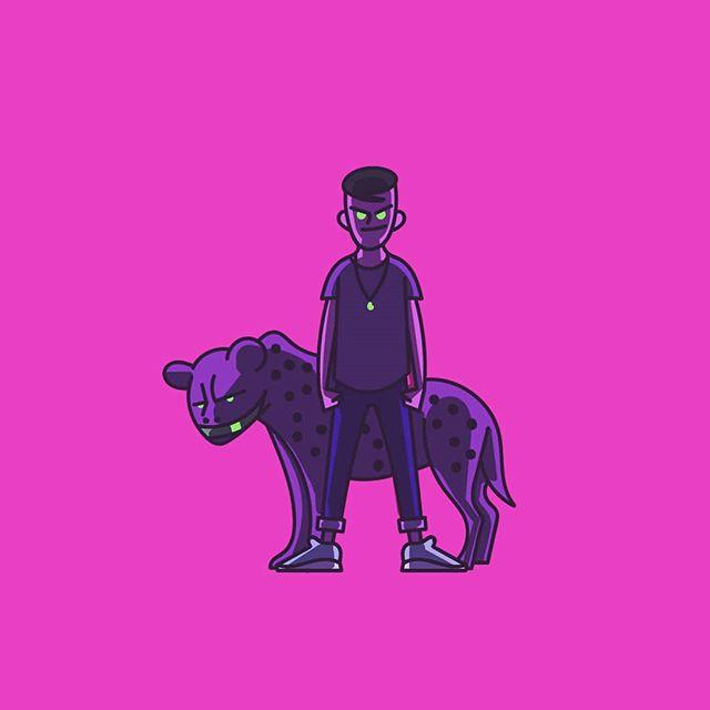 Be your most authentic self. . . I'm going to bed . . #animals #animal #animalsofinstagram #dog #hyena #spiritanimal #iamzacs #zac #me #art #arte #drawing #design #designer #create #creative #illustration #digitalart #neon #pink #bright #colour #color #fashion #sneakers #kicks
