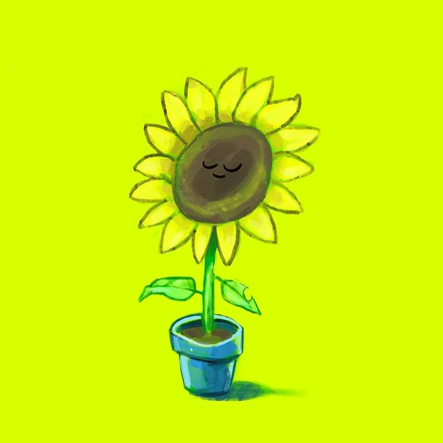 I drew a flower and I have a headache.  Not in that order. . . . . . #flower #art #nature #floral #flowers #botany #bloom #sunflower #arte #draw #drawing #digitalart #digital #photoshop #painting #paint #speedpaint #smile #cute #iamzacs #zac #me