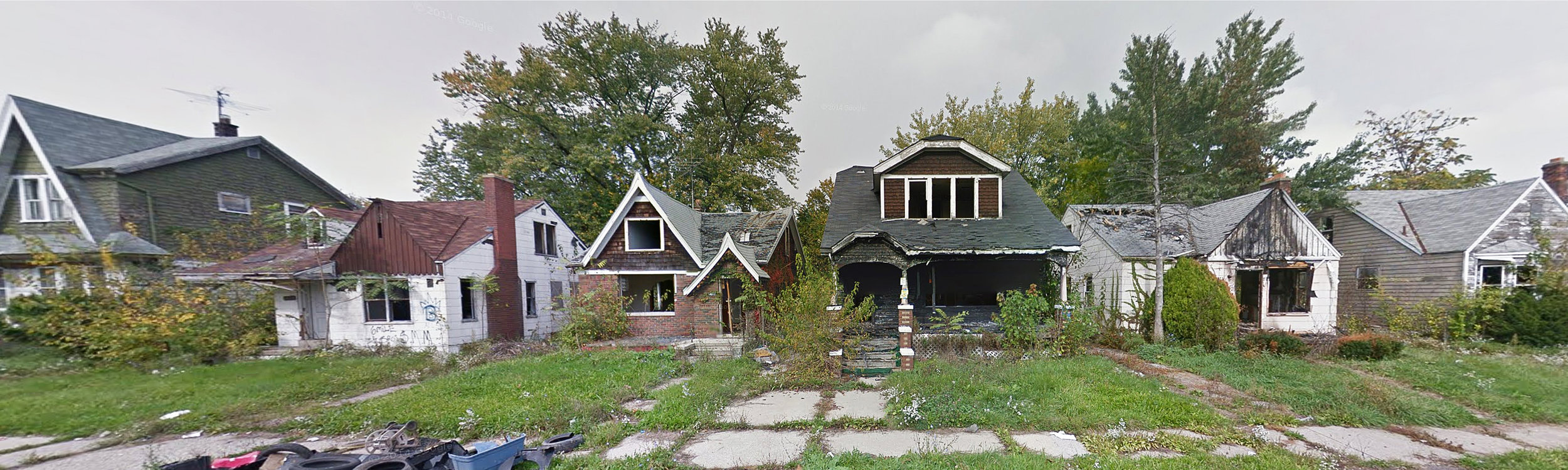 A Hurricane Without Water - Google Street View Images of Detroit, 2008 to 2015 by Alex Alsup