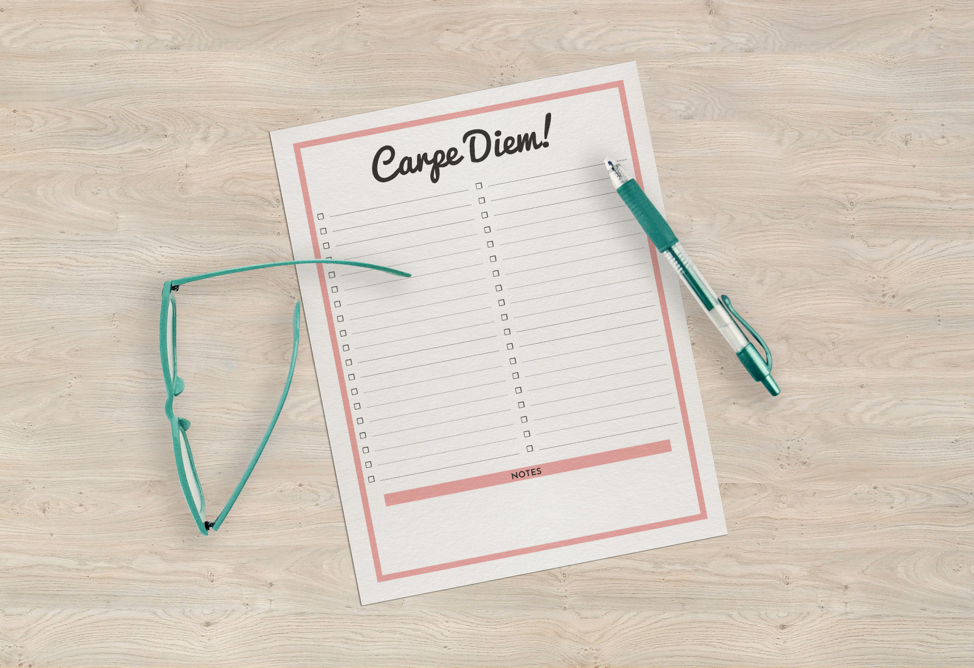 Carpe Diem to Do List Printable