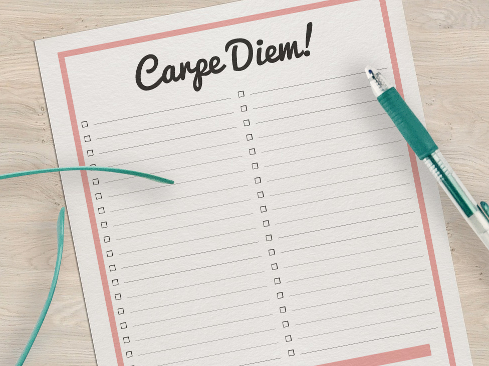 Carpe Diem To Do List for Organization