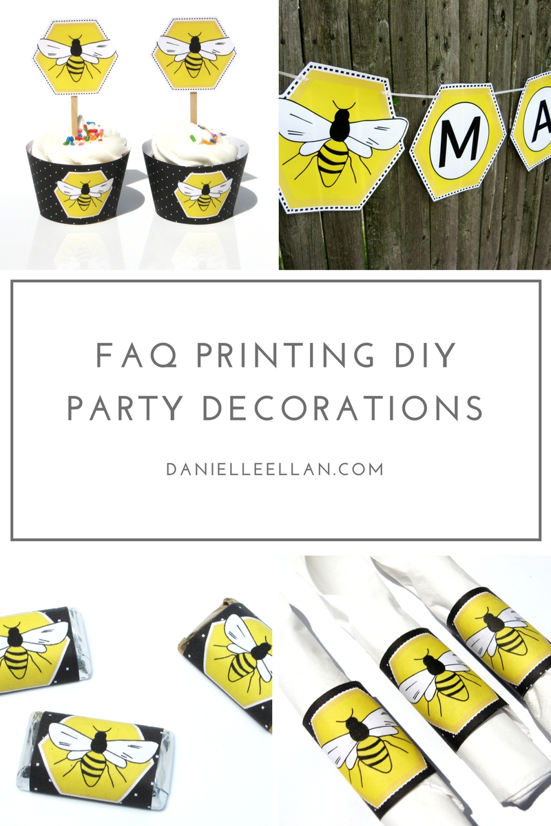 Instructions for Printing Party Decorations and printables