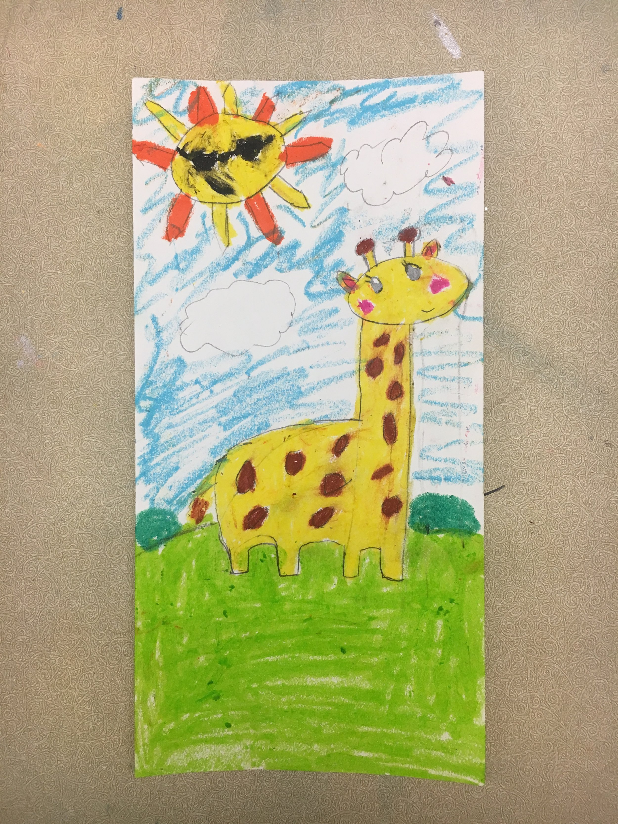Art-Ventures, drawing from student, age - 8