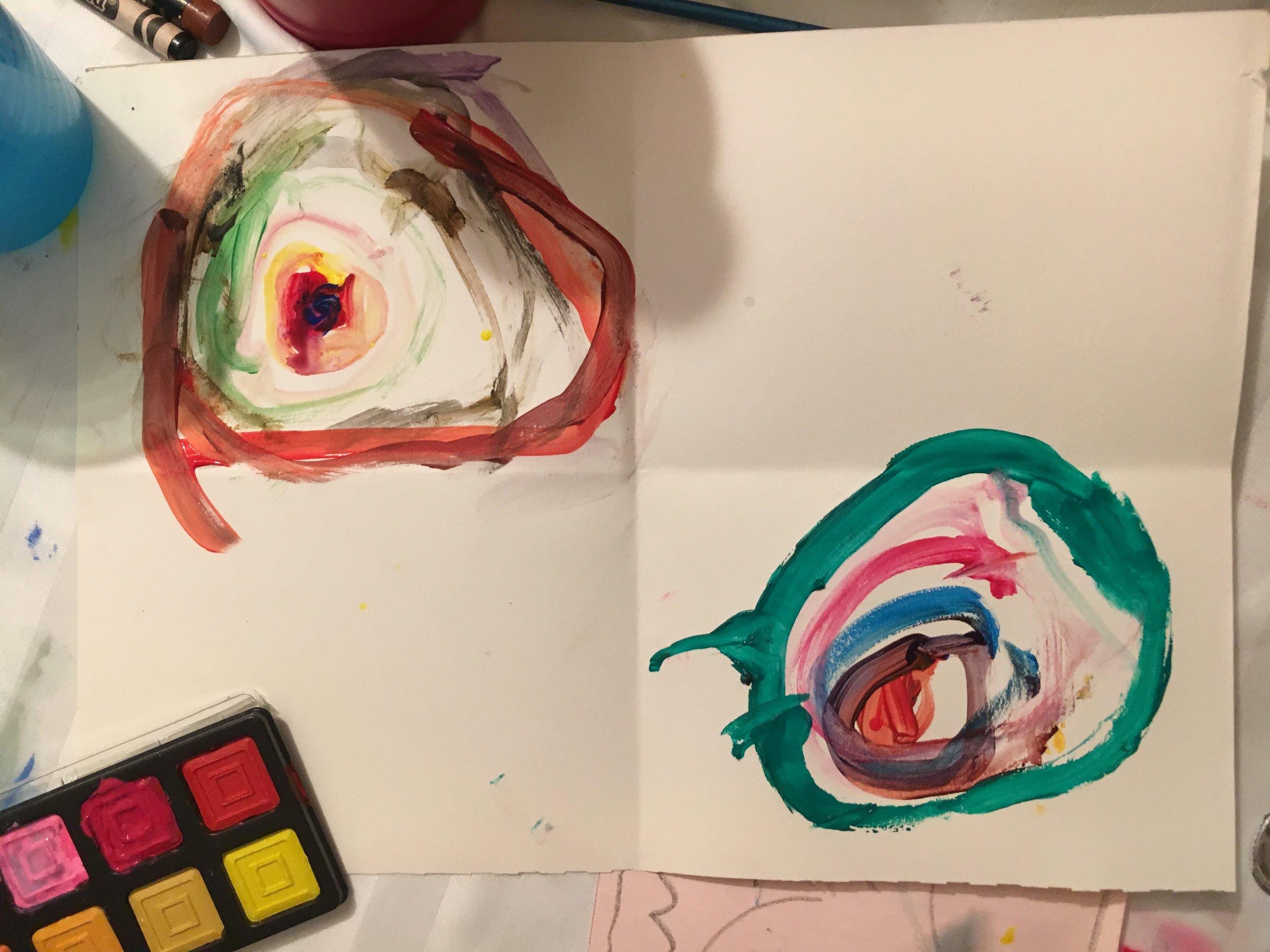 Kandinsky Lesson, Art tutoring, student - age 4