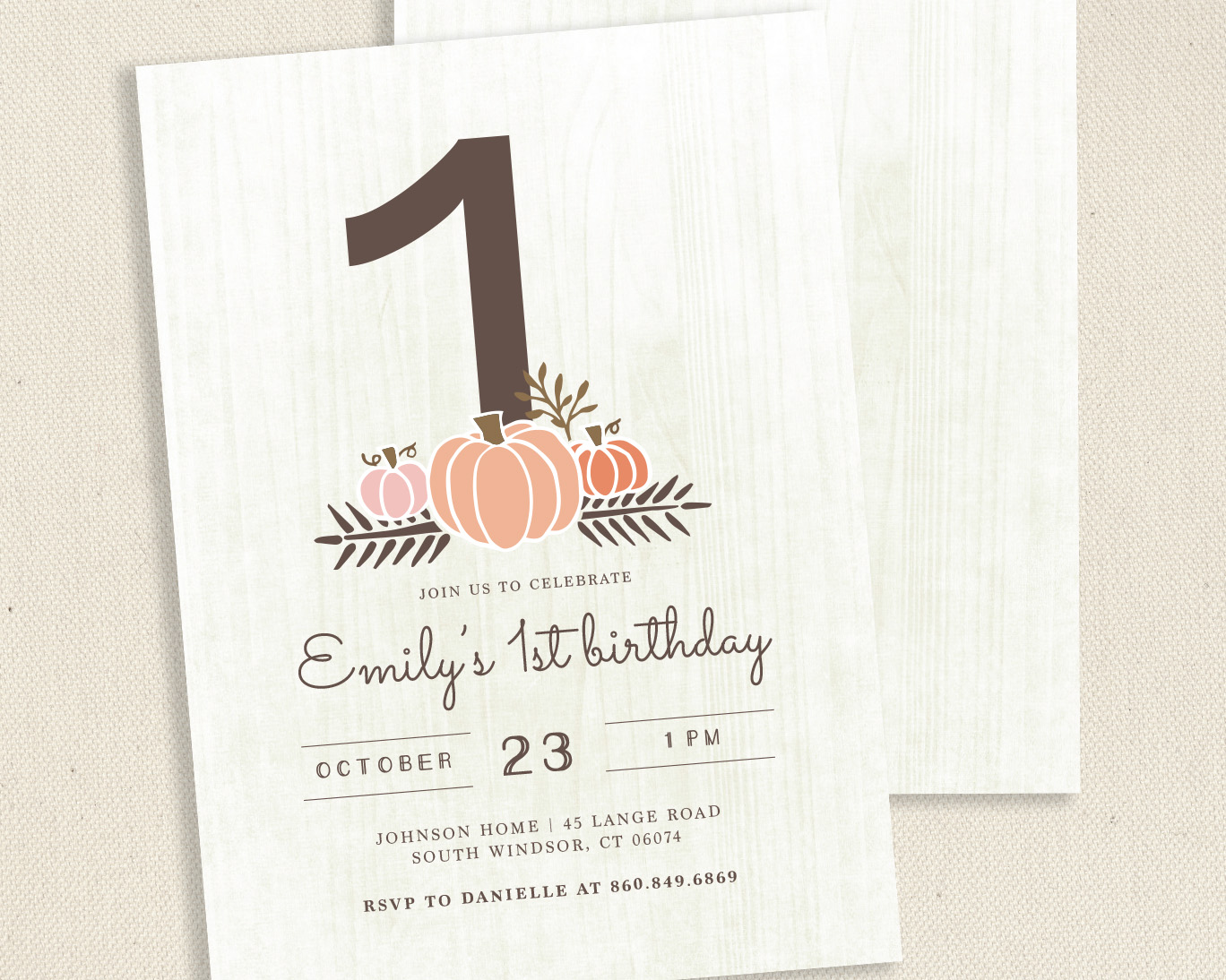 Little Pumpkin Invitation