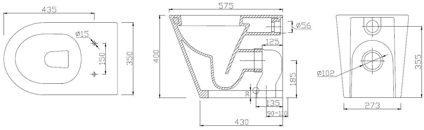 Latilla 10100 Technical Drawing
