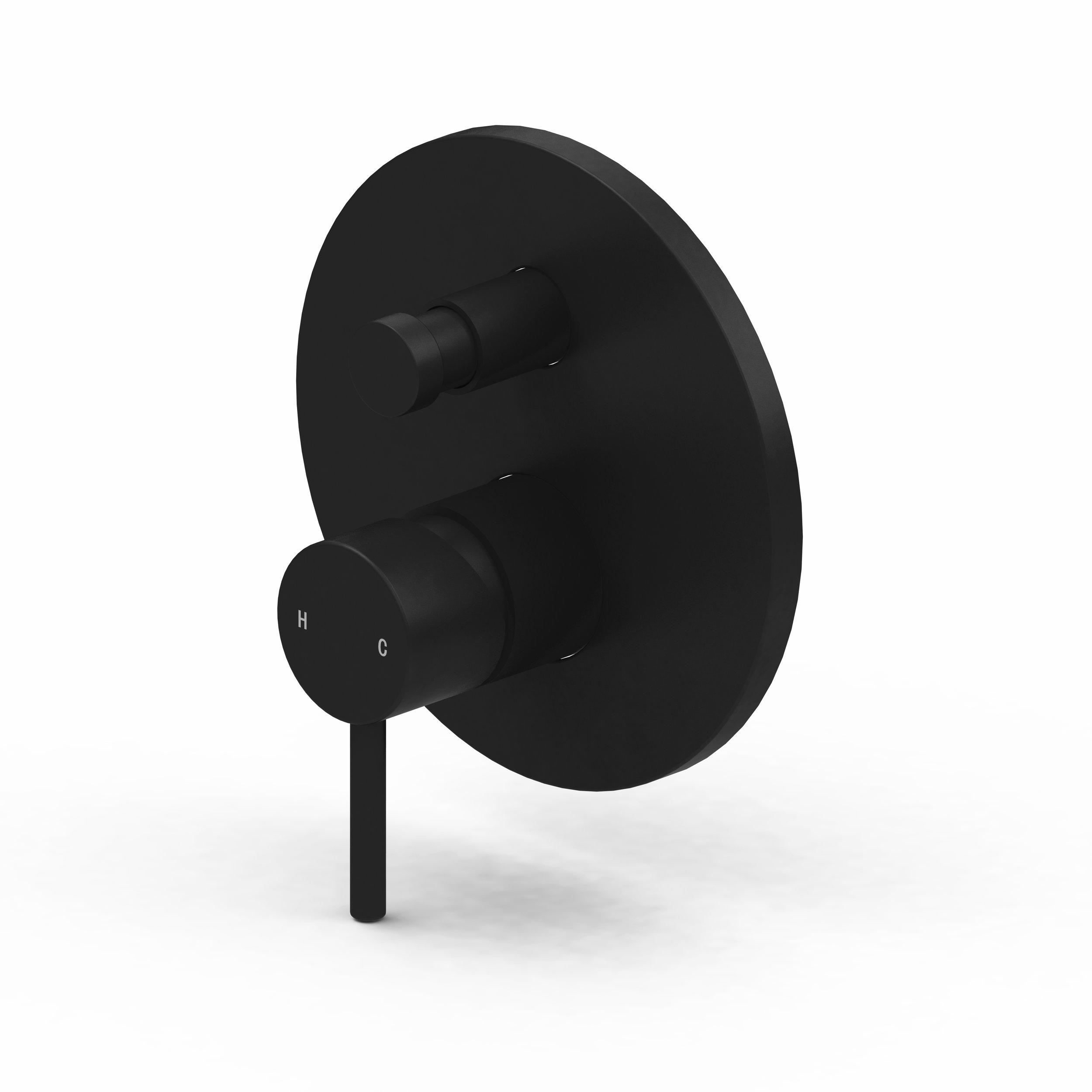Harmony Senza Black Wall Diverter Mixer