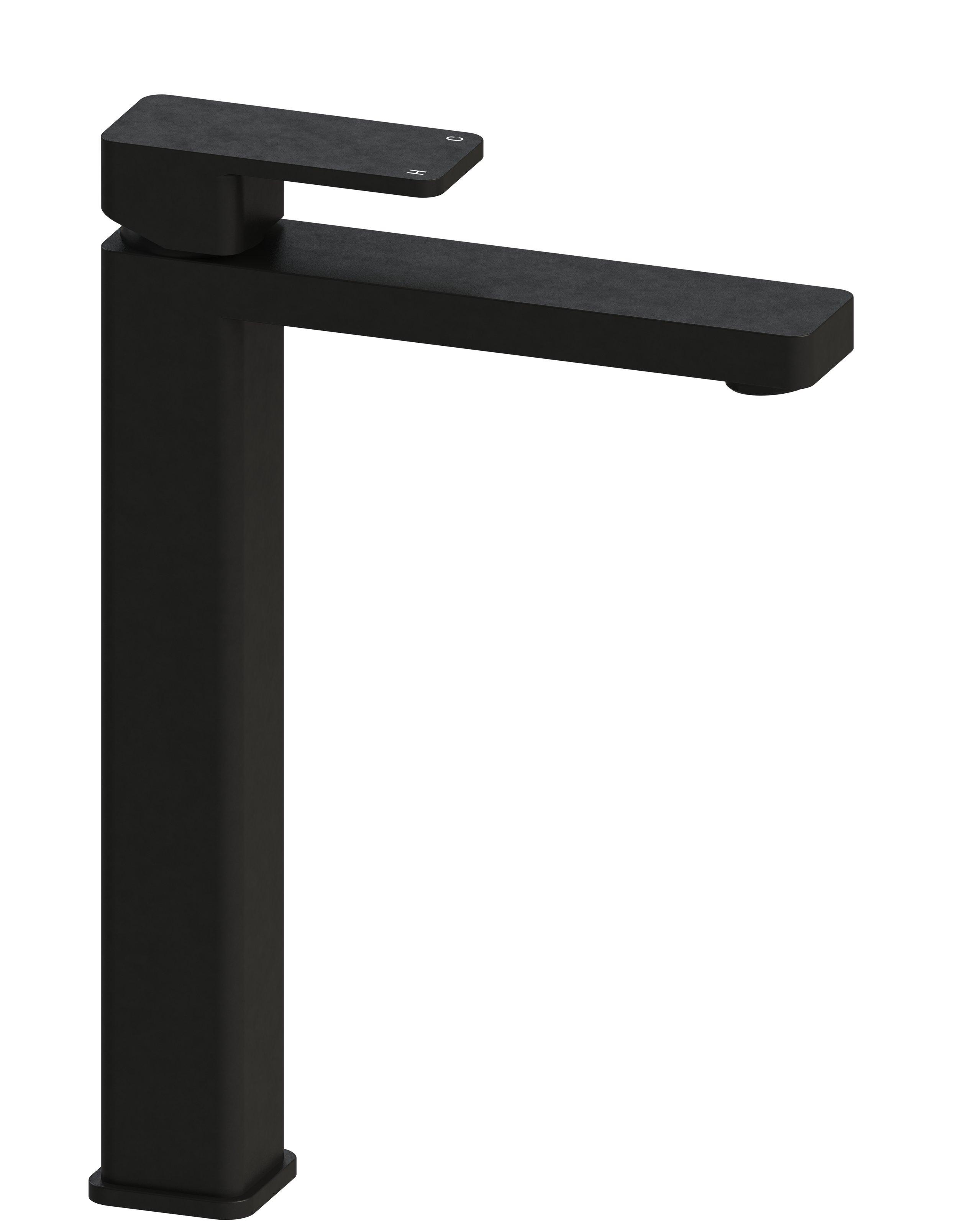 Harmony Rondo Solid Black Extended Basin Mixer