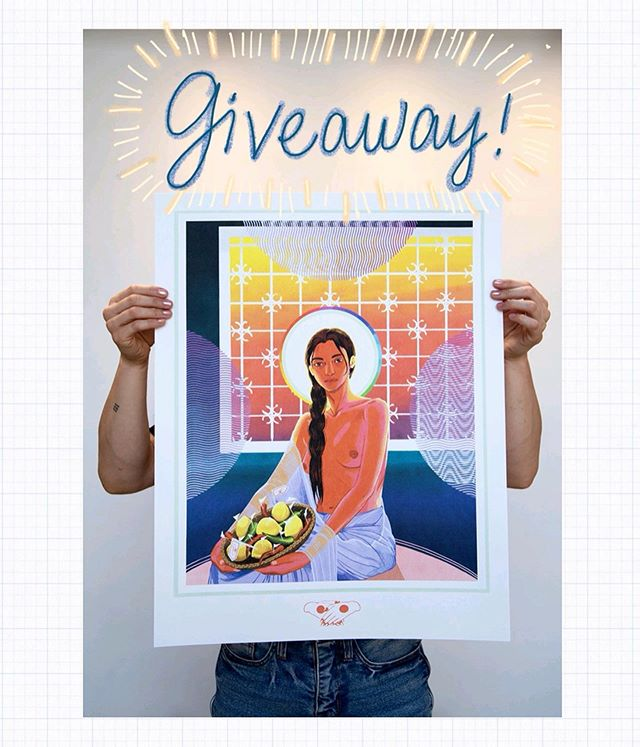 🚀 closed! 🚀 . . 🤩 GIVEAWAY! 🤩 In honor of hitting the silliest follower count ever (6969)(...😏) and also for being featured by @hifructosemag yesterday (swipe 👉 to see!!) I'm giving away one of these limited edition handpulled prints! It's a 4-layer CMYK print and boy is it beautiful ! to sweeten the pot a little bit i'm going to throw in a little drawing that i'll make just for you and this giveaway 💕 . . to enter simply: ————— 1. be following me 🙏 2. like this post 3. tag a homie in the comments who you think would like my work! . . you can leave as many comments tagging a new friend as you'd like and the more comments you leave the more of a chance you have to win! ⭐️ i'll be entering all the names into a randomizer to find the winner ! OH and i'm covering shipping WORLDWIDE so i'll ship it to wherever you live! this shit is international baby! 🚀🚀 . . the giveaway will close this Friday May 31st at 3pm CDT (USA) so that's 48hrs from now to enter! . . and for anyone who wants a print but doesn't win, these are available through the link in my bio for $95+shipping! 🙏 but remember it's a very limited run- so once they're gone, they're gone! . . big ups to @rawpaw @chrisdocksecrets @cogdut @heyjinnij @ponytailmafia for the amazing production of this print. not only am i really happy with the quality, i'm really happy that's it's a handmade piece of art produced by a local business made up of some of the best fucking talent in my town. they work super hard every day, not only on their business but on their own work as well. take a moment to check out their individual accounts, you won't be disappointed 🙏