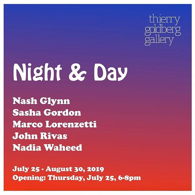 "New York i'm coming for you baby! Thursday next week me and a SOLID group of painters are opening ""Night & Day"". my insta story regulars know exactly which of my paintings are gonna be in the show 😉😉 it'll be a great time, come on out and say hi! . Reposted • @thierrygoldberg Night & Day opens Thursday July 25th, 6-8pm. With Nash Glynn, Sasha Gordon, Marco Lorenzetti, John Rivas, and Nadia Waheed. . . @nashglynn #NashGlynn @sashaagordon #SashaGordon @mmmarco__ #MarcoLorenzetti @johnrivas_studio #JohnRivas @nadiakwd #NadiaWaheed"