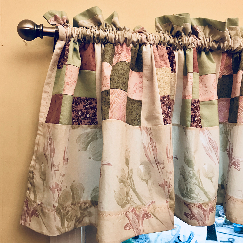 Curtains made with my fabric designs