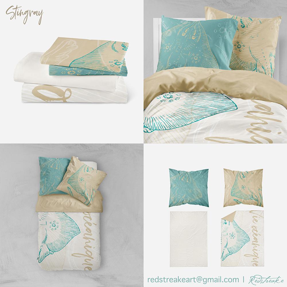 bedding set, Stingray