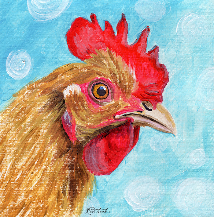 Rooster - Acrylic on canvas