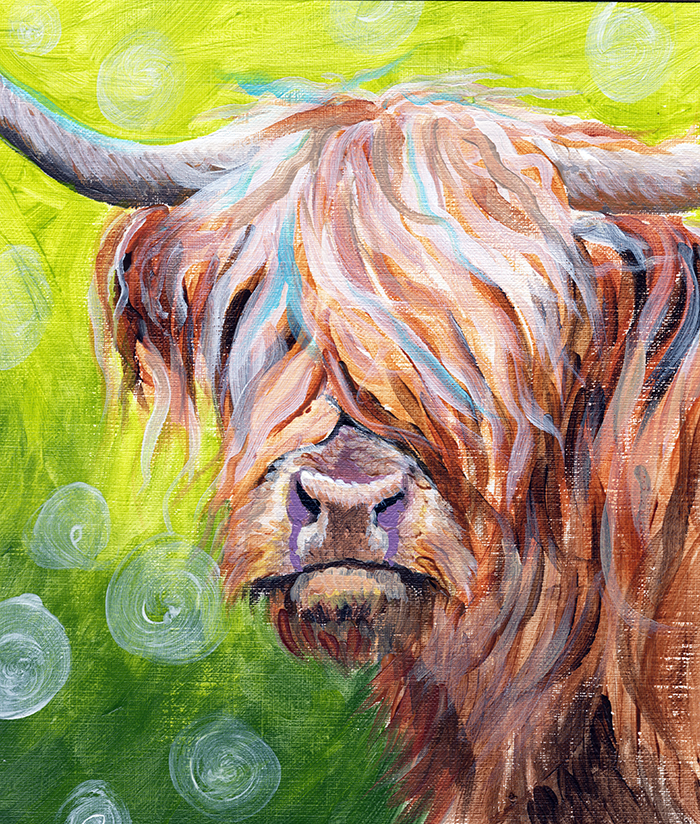 Highland Cow - Acrylic on canvas