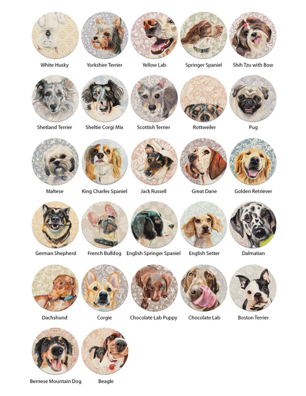 Brand New Coaster Sets by Coaster Stone!27 breeds to choose from. Get your set today! - If you don't see your breed, contact me!