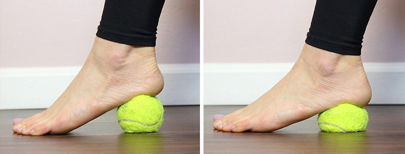 Heel Squish; 20 seconds 3x each foot