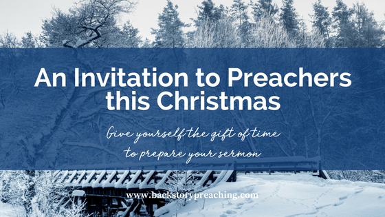 an invitation to preachers christmas time to prepare sermon