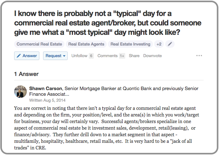 Photo: Screenshot of a Quora question and answer