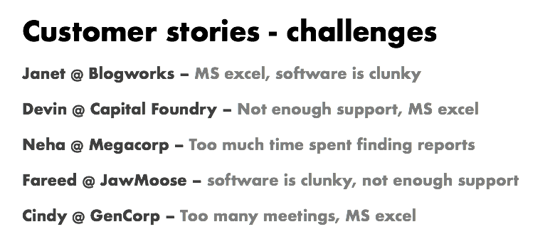 customer stories and challenges blog backlog