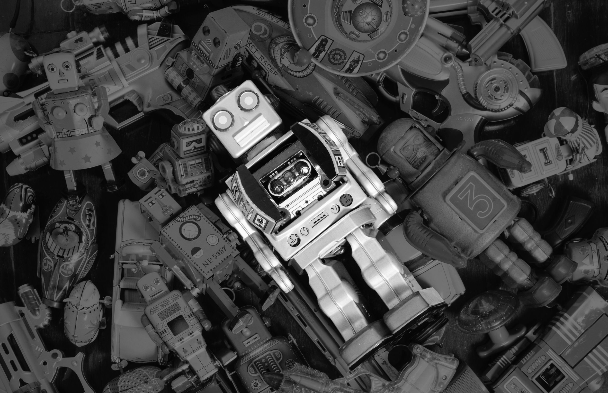 factory of robots human marketing