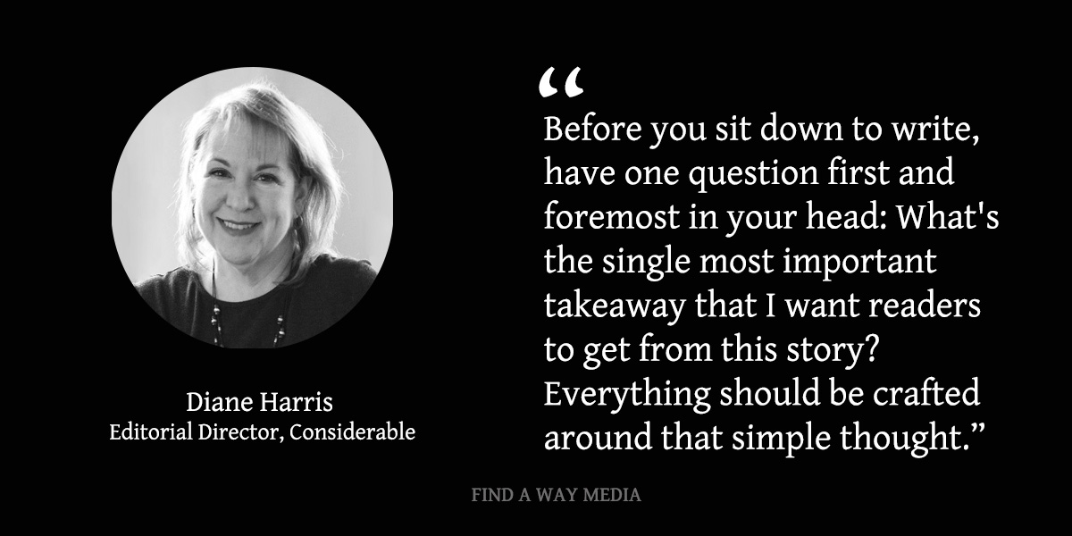 Diane Harris Considerable Find A Way Media