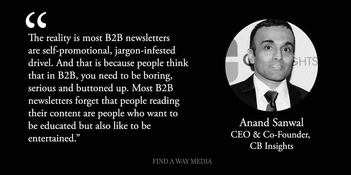 anand sanwal cbinsights newsletter