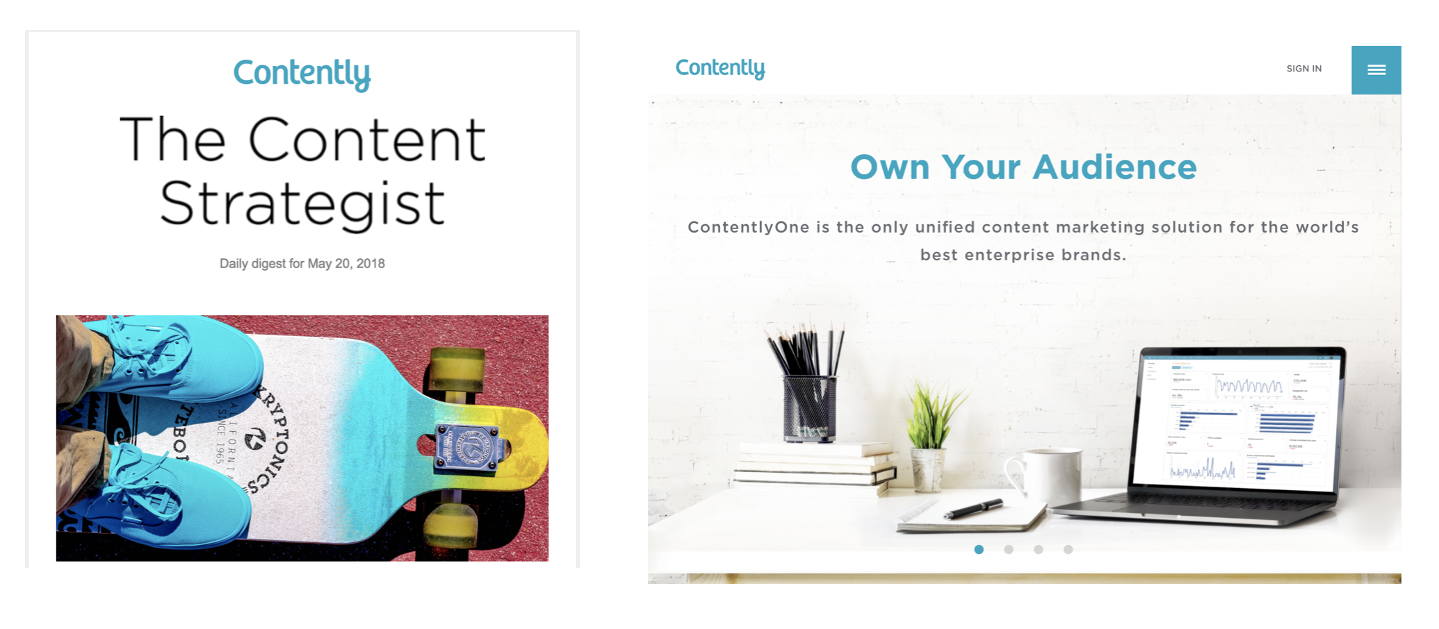 contently newsletter design find a way media
