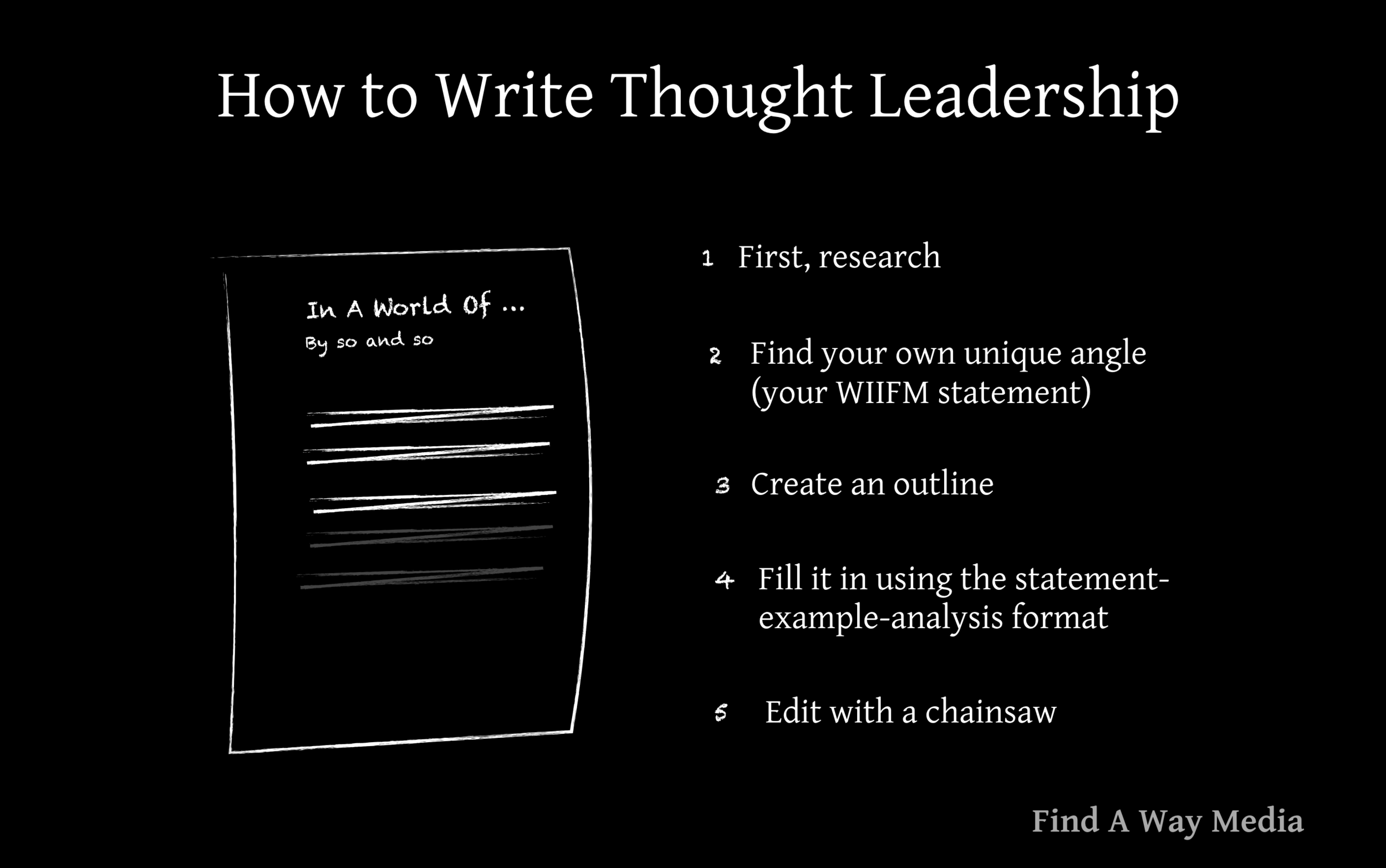 how to write thought leadership find a way media