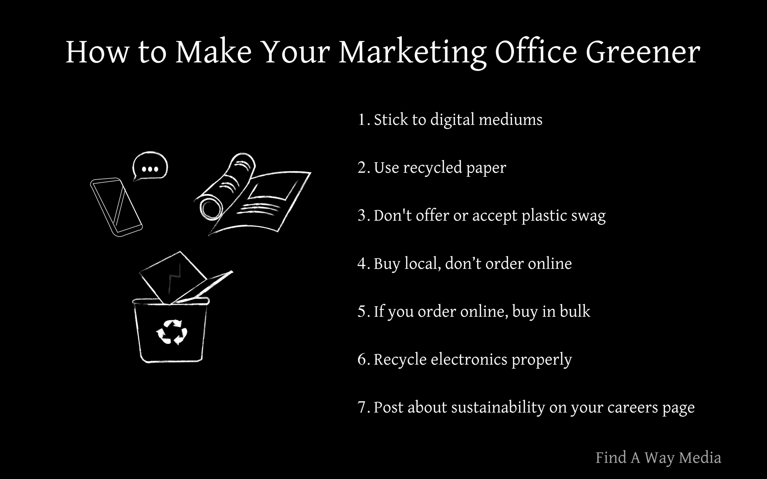 how to make your marketing department greener