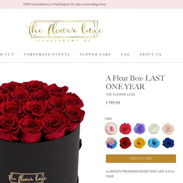 Love @theflowerluxe new rose color swatches 😍🌹 perhaps my fav theme customization we did for their new site. Happy Friday folks! 😀
