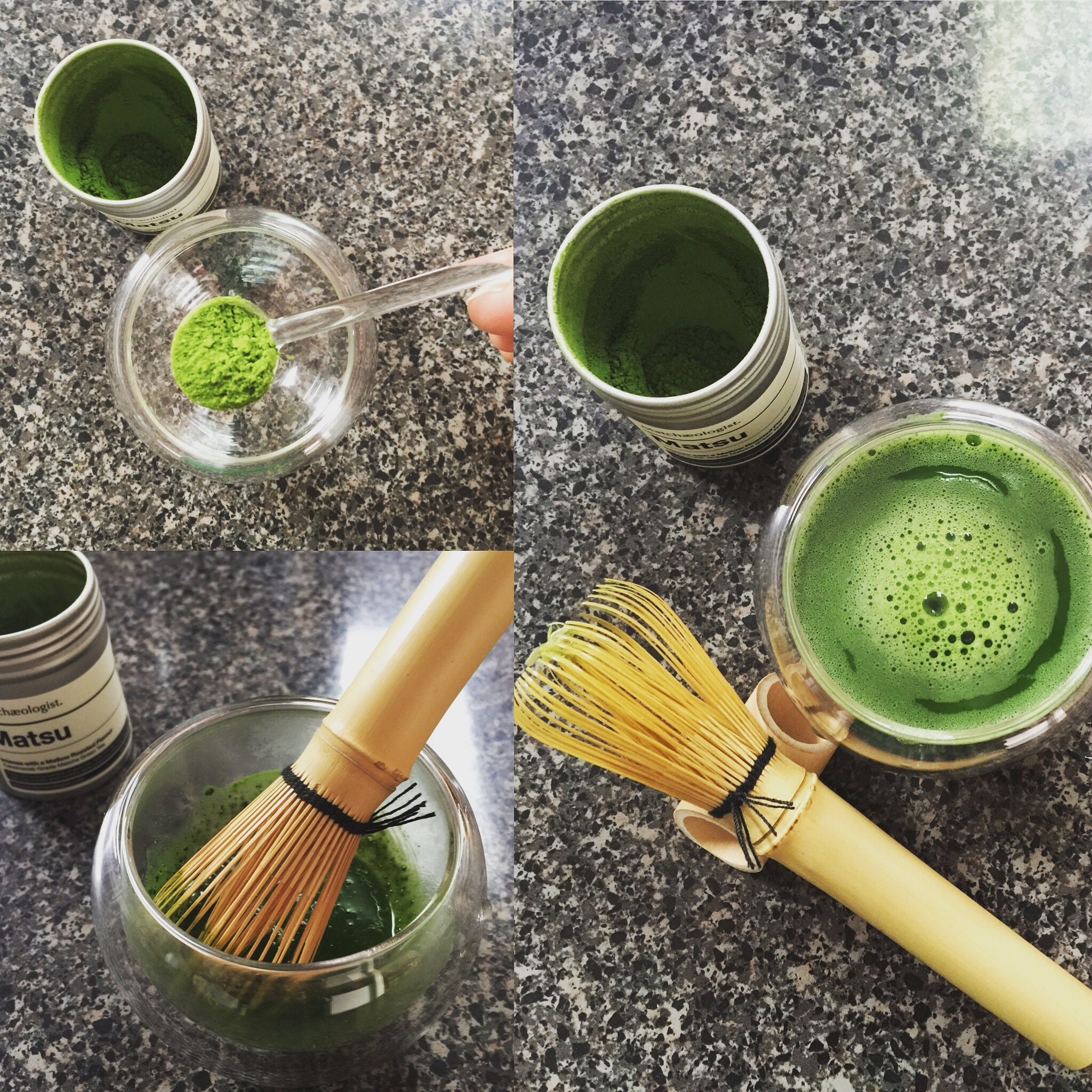 My first Matchaeologist Set with their Matsu variety of matcha