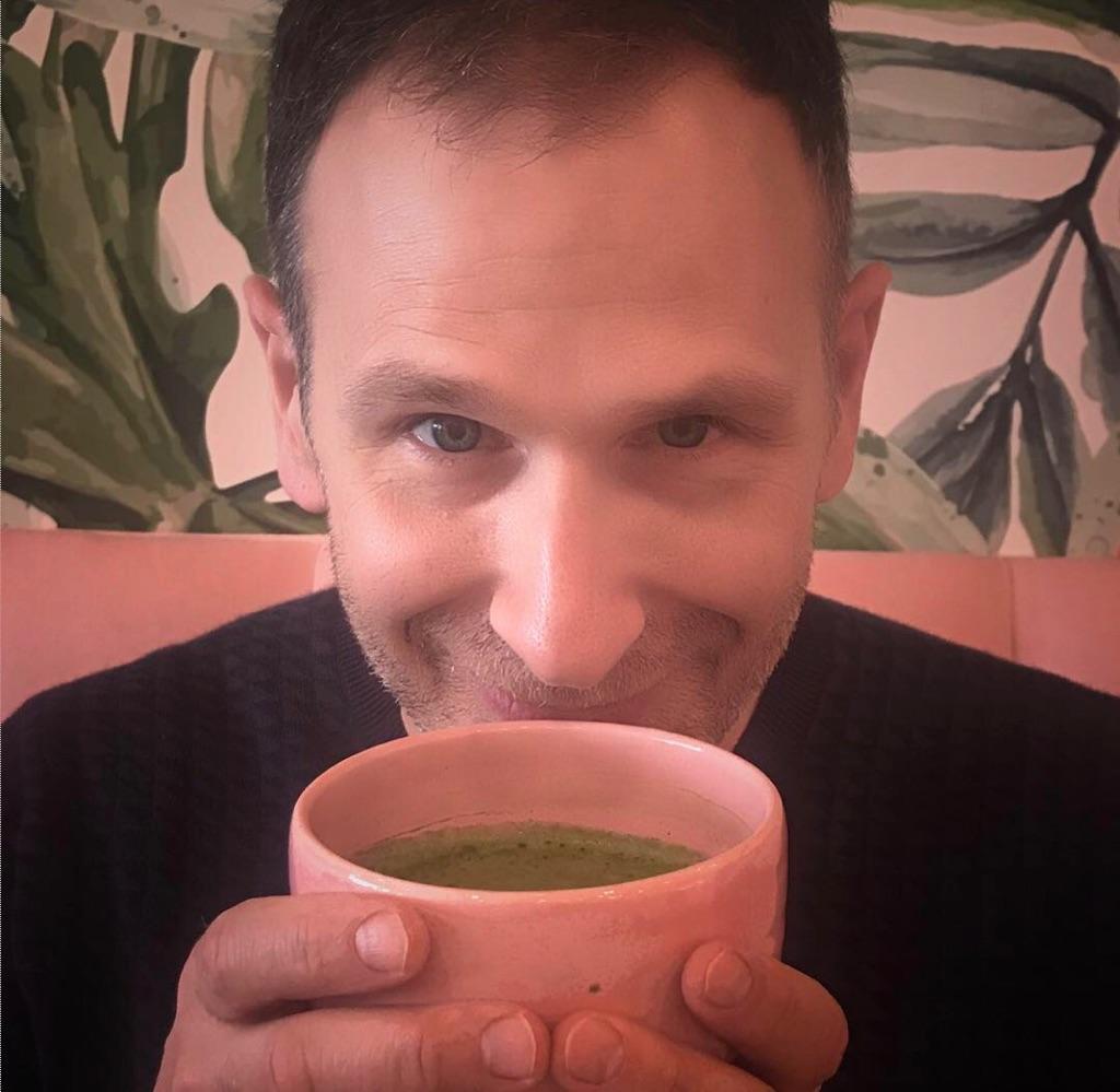 Brad drinking Matcha.jpeg