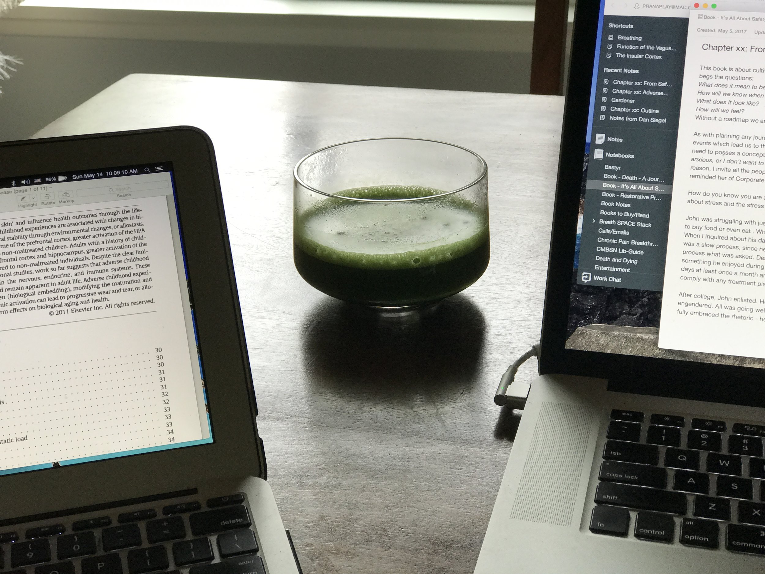 Matcha + Writing