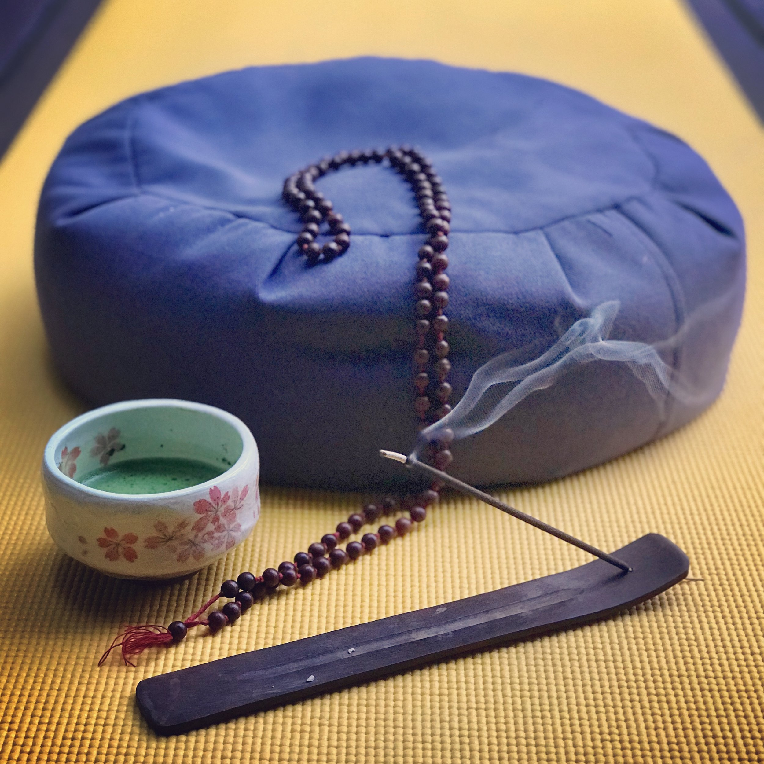 Meditation & Matcha on my Yoga Mat