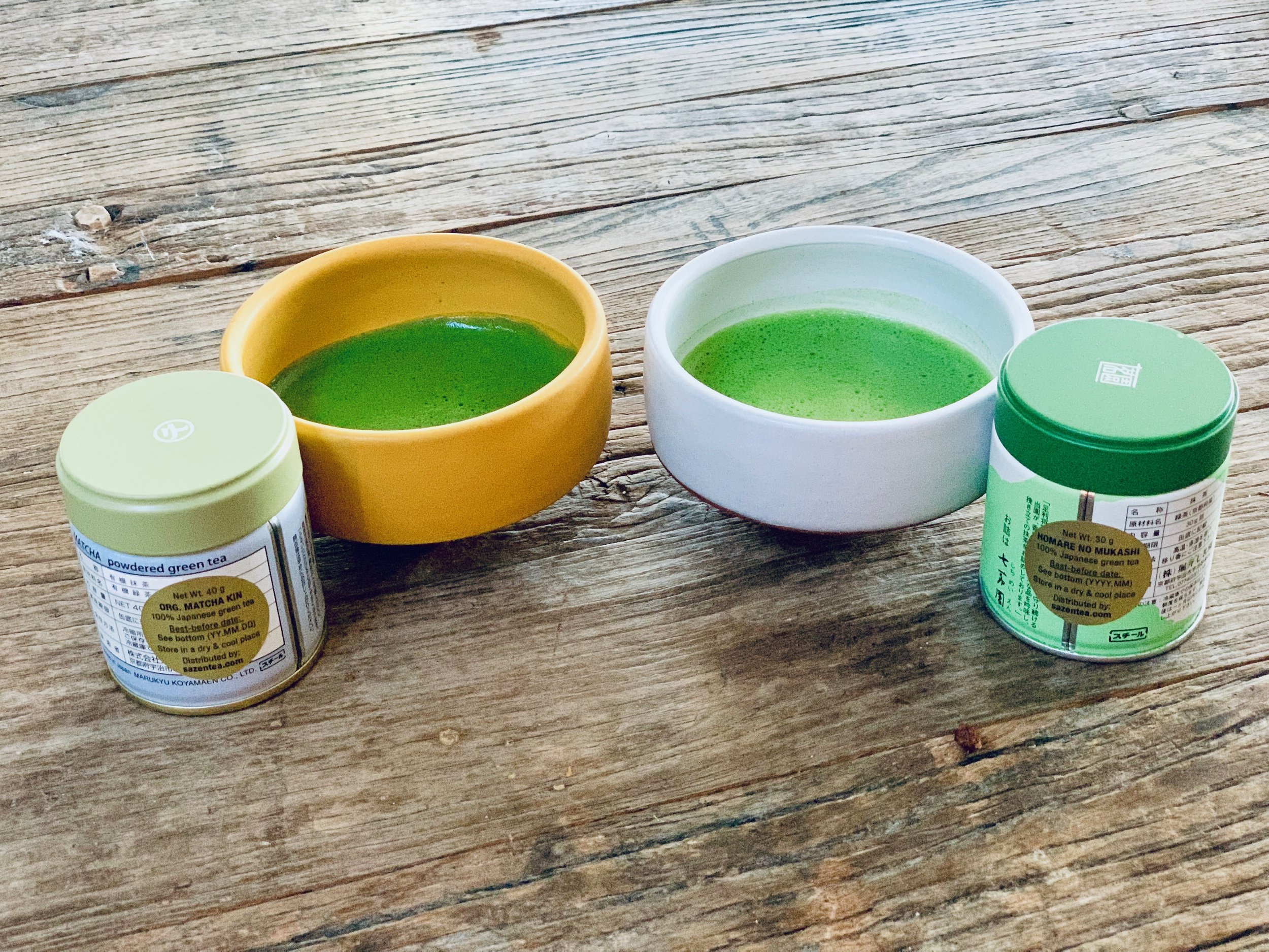 Organic Matcha Kin and Homare-no-Mukashi from Sazen Tea