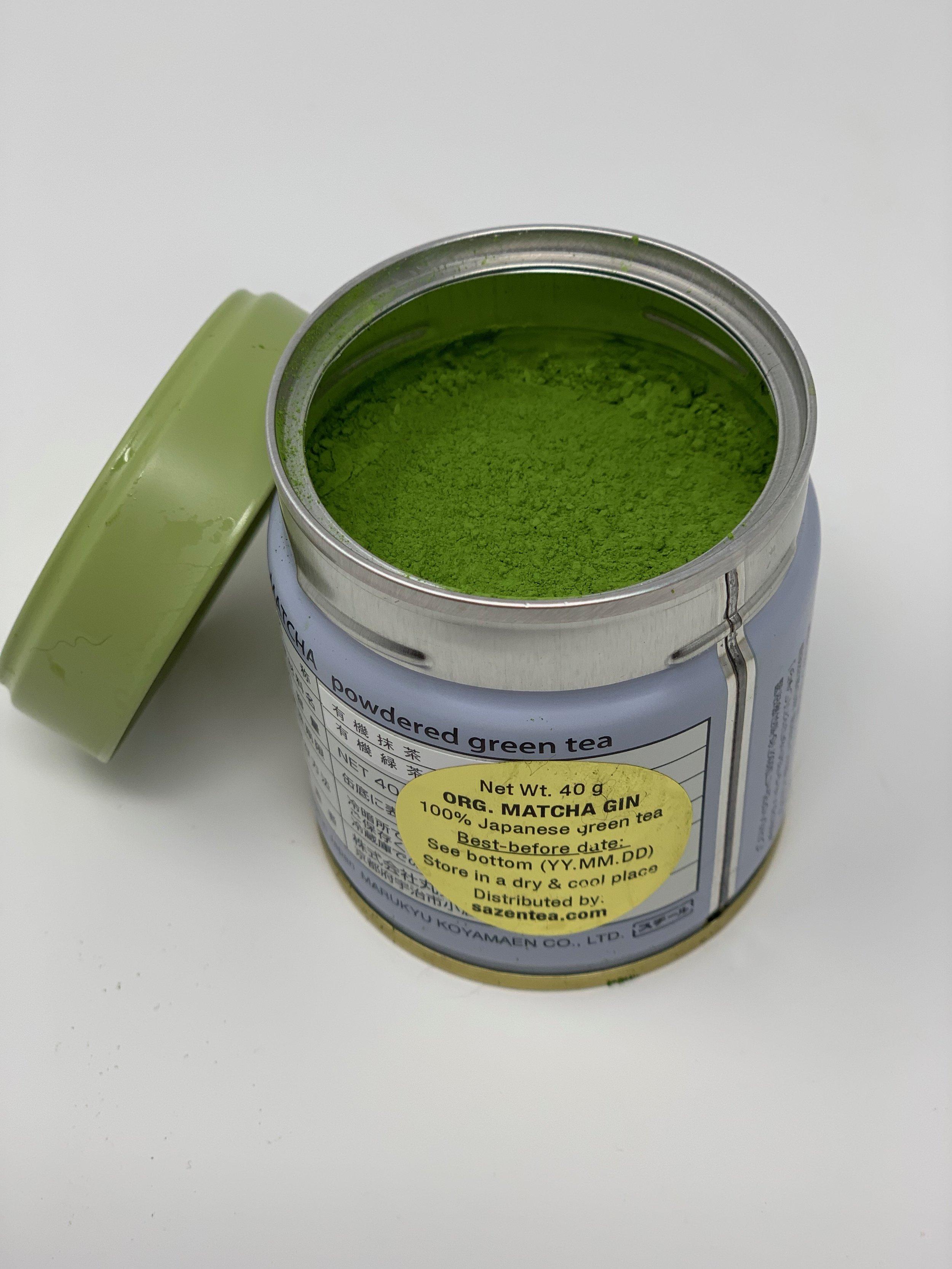 Look at the bright vibrant green color of this matcha - Organic Matcha Gin
