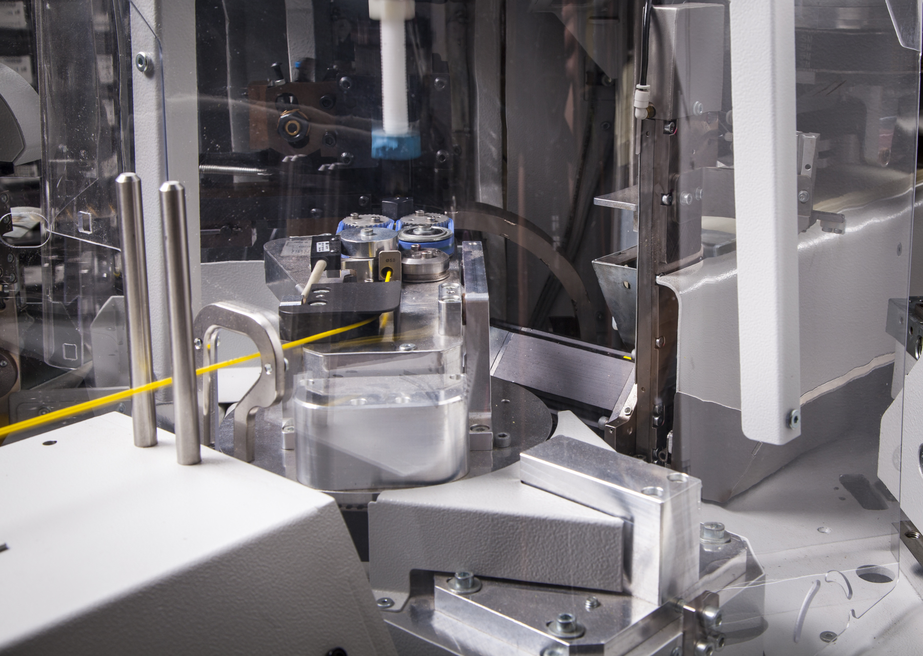 High speed automated crimping machines ensure speed, consistency, and accuracy.