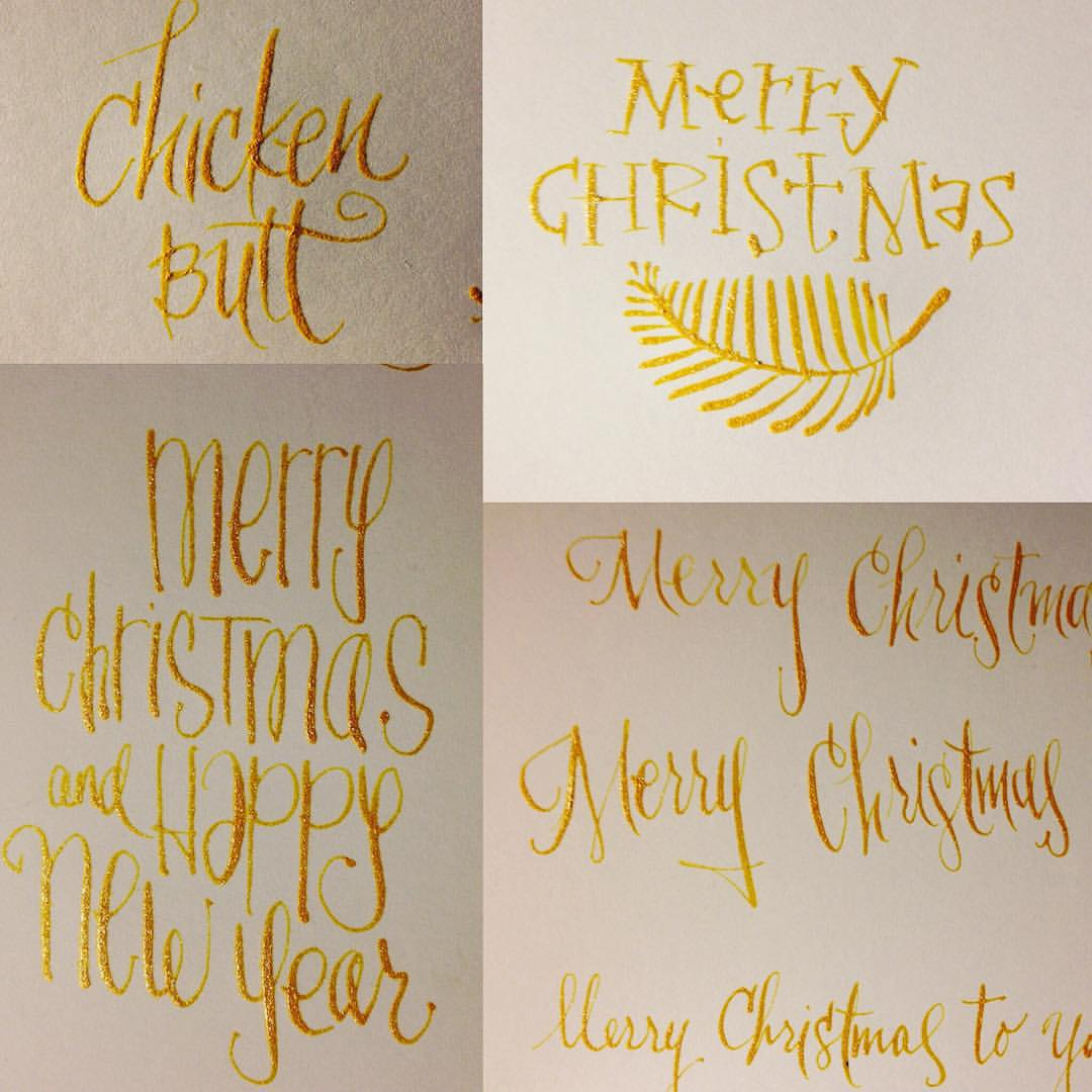 Christmas Card Calligraphy