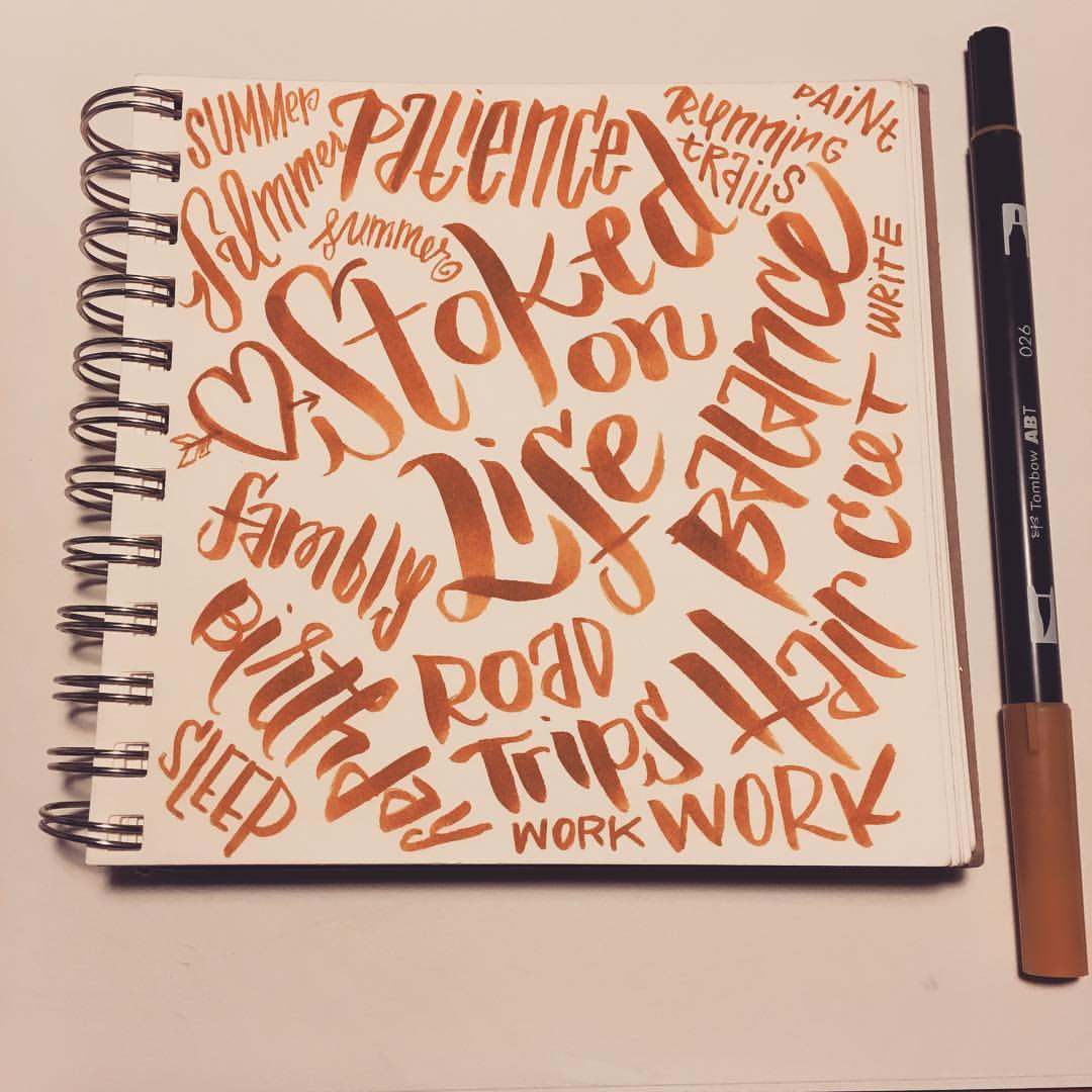 Sketchbook Lettering