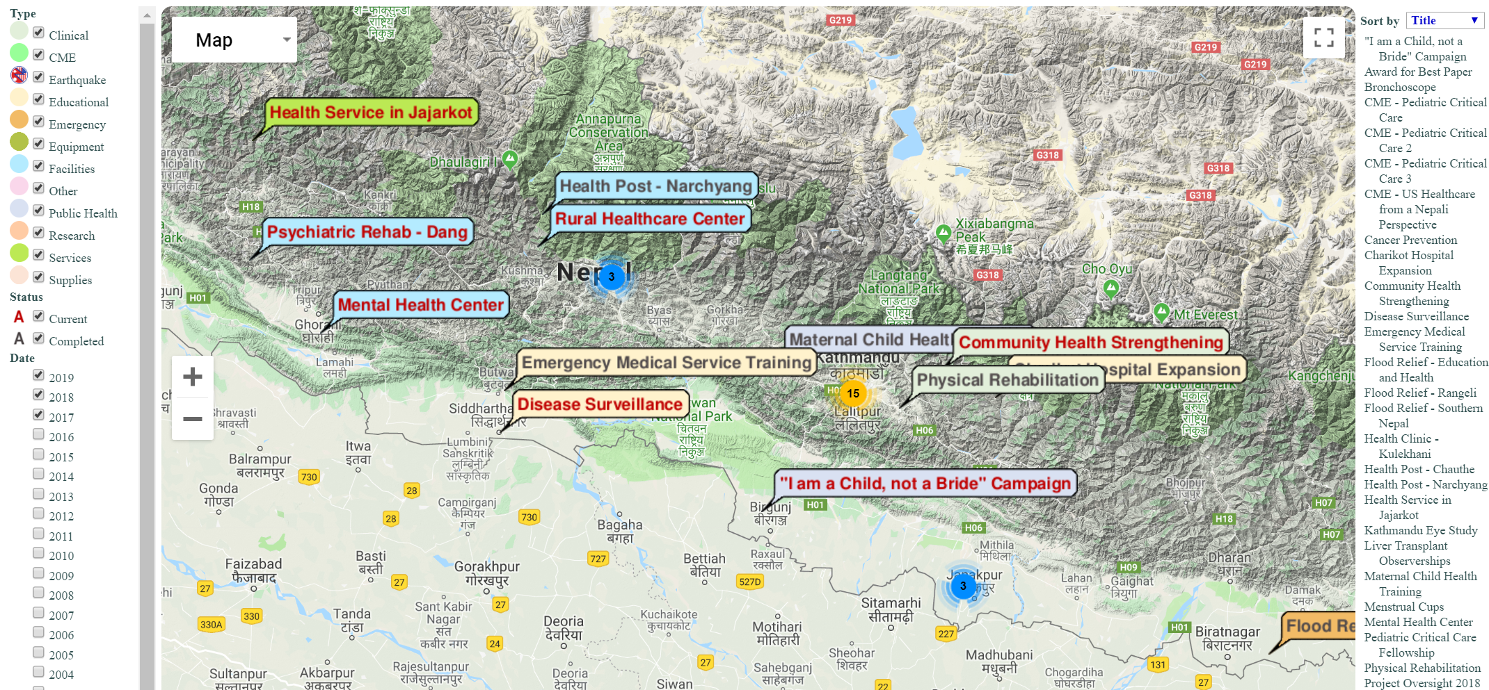 Click on the image above to see our projects in Nepal.