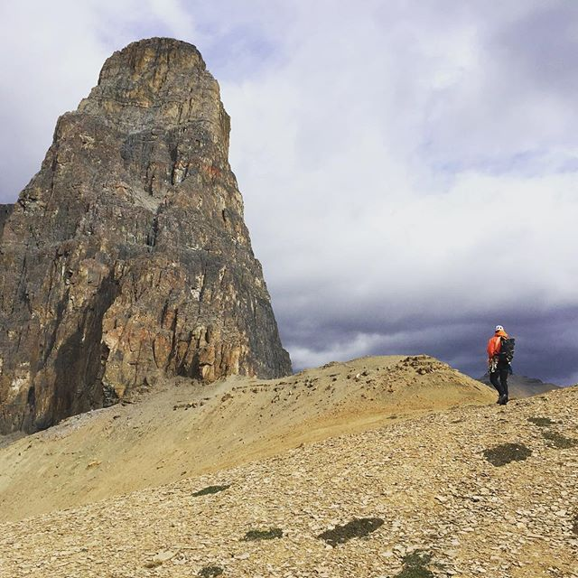 Managed to climb this classic before the weather! #eisenhowertower #alpinestorm #darkcloudsrolling #parkscanada