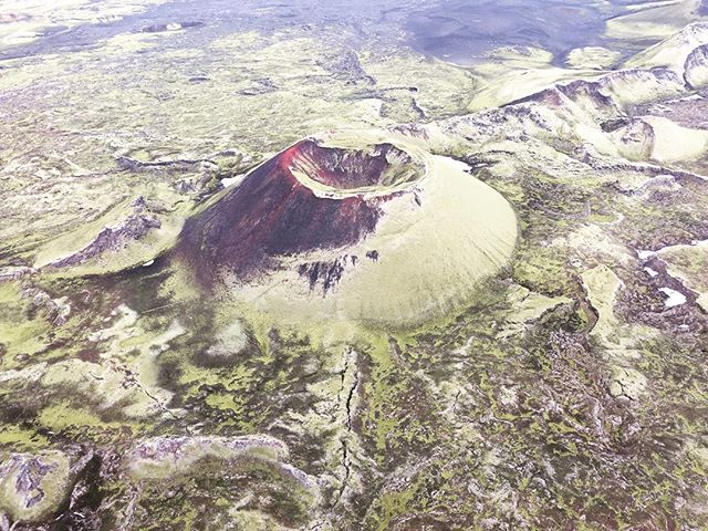 One of the many Lakagigar craters, amazing landscape!#icelandvolcano